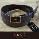 ダックス (父の日 ギフト)DAKS ダックス ベルト バックル式 スライド式 牛革 DB20950-02 日本製(ラッピング無料)