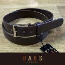 ダックス (父の日 ギフト)DAKS ダックス ベルト 牛革 袋縫無双仕立 DB35810-02 日本製(ラッピング無料)