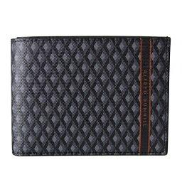 ダンヒル 二つ折り財布(メンズ) ダンヒル 二つ折り財布 メンズ エンジンターン ラゲッジキャンバス グレー 19R2320CC030 名入れ可有料 ネーム入れ