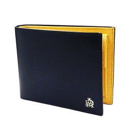 ダンヒル 二つ折り財布(メンズ) ダンヒル DUNHILL 財布 二つ折り BELGRAVE NAVY ベルグレイブ ネイビー バイカラー L2T732N