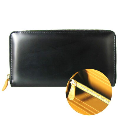 エッティンガー ETTINGER 財布 メンズ 長財布 ブライドルレザー ラウンドファスナー BH2051EJR BLACK ブラック