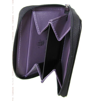 エッティンガー ETTINGER コインケース 小銭入れ ロイヤルコレクション メンズ ST2050JR BLACK ブラック×パープル
