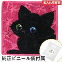 フェイラー メール便可275円 フェイラー ハンカチ ハンドタオル タオルハンカチ 25cm ブラックキャット 黒猫 オッドアイ ピンク 母の日 プレゼント 実用的