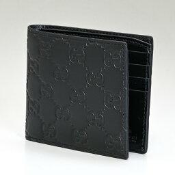 グッチ 財布(メンズ) グッチ GUCCI メンズ 二つ折り財布 小銭入れなし AVEL グッチシマ シグネチャーレザー ブラック 365466 CWC1R 1000 父の日