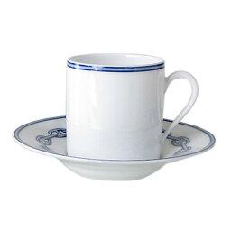 エルメス カップ エルメス HERMES シェーヌダンクルブルー 002717P コーヒーカップ&ソーサー 一客 90ml