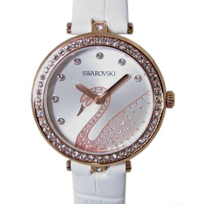 スワロフスキー 腕時計 レディース Aila Dressy Lady Swan ウォッチ ホワイト ローズゴールド 5376639