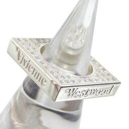スクエアリング 【最終処分】 ヴィヴィアンウエストウッド 指輪パヴェスクエアリング クリア シルバー925