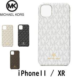マイケルコース スマホケース マイケルコース シグネチャー ホワイト バニラ ブラウン ブラック コーテッドキャンバス iPhone11 iPhoneXR iPhoneケース
