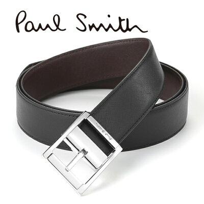 [ポールスミス]PAUL SMITH リバーシブルベルト(ピンタイプ) PS-615 【あす楽対応_関東】【ポールスミスベルト ポールスミスリバーシブルベルト ブランドベルト メンズ レザーベルト シルバー クリスマス プレゼント】