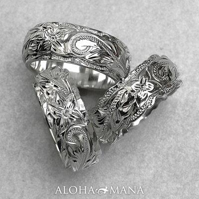 リング 指輪 ハワイアンジュエリーレディース 女性 メンズ 男性 ペアリングにオススメ グラマラス・デュアルトーン オーダーメイド オリジナル 個性で選ぶ 3種のカットエッジ シルバーリング シルバー 925 ari007sv
