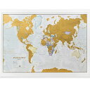 scratch map  世界地図 ポスター メルカトル図法 ワールドマップ 84×58 アメリカ Maps International Scratch the World Travel Map Scratch Off World Map Poster