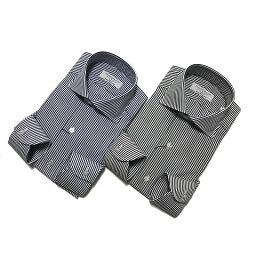 トゥモローランド TOMORROWLAND トゥモローランド メンズ 140/2 ワイドカラー ロンドンストライプシャツ
