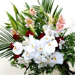 蘭(ラン) 最高級ランと季節のお花のブーケ(花束)