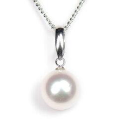 真珠 ペンダント 真珠 パール ネックレス あこや 送料無料 あこやパール 7.5〜8.0mm K14WG ホワイトゴールド ネックレスペンダント