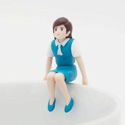 座るフチ子 コップのフチ子さん ブルー イメチェンフチ子