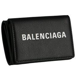 バレンシアガ 財布(レディース) バレンシアガ BALENCIAGA 財布 三つ折り EVERYDAY エブリデイ ミニ財布 ブラック 505055 DLQHN 1060【母の日】
