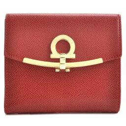 フェラガモ 財布(レディース) フェラガモ FERRAGAMO ミニ財布 レディース ガンチーニ 二つ折り財布 レッド 22C877 0007 0371