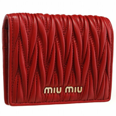 ミュウミュウ MIU MIU 2019年春夏新作 財布 マテラッセ 二つ折り ミニ財布 二つ折り財布 レッド 5MV204 N88 68Z