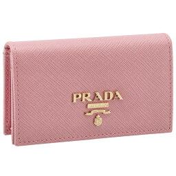 プラダ 名刺入れ プラダ PRADA サフィアーノレザー カードケース ピンク系 1MC122 QWA 442