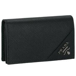 プラダ 名刺入れ プラダ PRADA カードケース 型押しカーフスキン メンズ カードケース 2MC122 QME 002