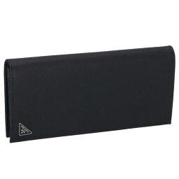 プラダ 長財布(メンズ) プラダ PRADA 財布 型押しカーフスキン メンズ 二つ折り長財布 2MV836 QHH 002
