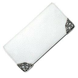 クロムハーツ 長財布(メンズ) クロムハーツ 財布(Chrome Hearts)ロング・シングルフォールド・チップス・3ビル・ホワイト・ヘビーレザー(メンズ)(クロム・ハーツ)(長財布)