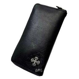 クロムハーツ 長財布(メンズ) クロムハーツ 財布(Chrome Hearts)REC・F・ZIP#2・フィリグリープラス・ブラック・ヘビーレザー(メンズ)(クロム・ハーツ)(長財布)