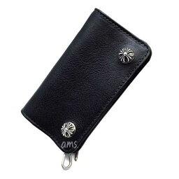 クロムハーツ クロムハーツ 財布(Chrome Hearts)スモール・シングルフォールドブラック・ヘビーレザーウォレット(メンズ)(クロム・ハーツ)(長財布)