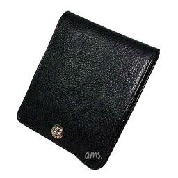 クロムハーツ 財布(メンズ) クロムハーツ 財布(Chrome Hearts)ワンスナップ・クロスボタンブラック・ヘビーレザーウォレット(メンズ)(クロム・ハーツ)(長財布)