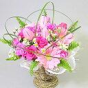 即日配送フラワー スプリング花 ギフト チューリップと春の花のアレンジ「奏春」【即日配送】歓迎 送迎【楽ギフ_メッセ】
