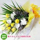 黄 【あす楽16時まで受付】【季節のお花・花束】黄バラとトルコ桔梗の花束【あす楽対応】