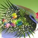 レインボーローズ 【送料無料】虹色のバラ レインボーローズ5本の花束カスミソウ付き】女性 ギフト 花 ギフト 誕生日 プレゼント・記念日・お祝い・お見舞い 結婚祝 お中元 ランキング 花束 ホワイトデー