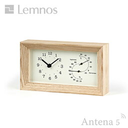 温湿時計 《全2色》Lemnos FRAME 温湿度計付き置き時計 【タカタレムノス フレーム 温湿時計 デザイン雑貨 温度計 湿度計 北欧】