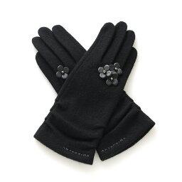 アンテプリマ 手袋 【ANTEPRIMA公式】アンテプリマ/タッチパネル対応 フィオーリ付きジャージグローブ/ブラック【オンラインストア限定商品】/ANTEPRIMA/EAP513401N/BLACK