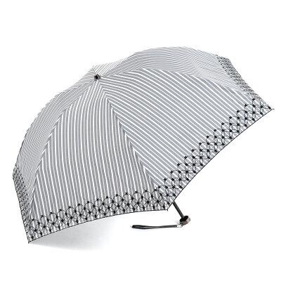 【ANTEPRIMA公式】アンテプリマ/ストライプ先染めラメ刺繍 晴雨兼用ミニ傘/ブラック/ANTEPRIMA/E1AN27789M/BLACK