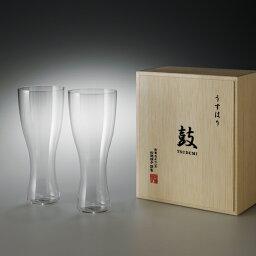 うすはりビールグラス 今なら5400円以上で送料無料|松徳硝子(ショウトクガラス) うすはりビールグラス(ピルスナー)ペアセット 木箱入り|※包装のしメッセージカード無料対応