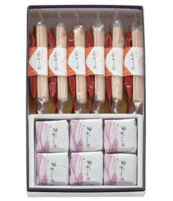 最中三昧(もなか)、ゆらゆらり(琥珀糖)の入った和菓子詰合せ。進物、お手土産にオススメの人気和菓子セット。