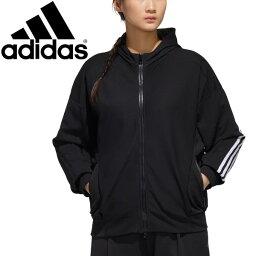 アディダス スウェット 長袖 パーカー レディースアディダス adidas W MUST HAVES SWT ジャケット フーディ/スポーツウェア フィットネス トレーニング 女性 スエット 黒 ブラック 羽織り/IXK67-GF6946【a20Qpd】