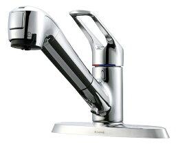 タカギ タカギ キッチン用 蛇口一体型浄水器 2ホール水栓(203mmピッチ用)(固定型) JL256MN