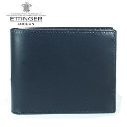 エッティンガー 二つ折り財布(メンズ) 【ETTINGER】エッティンガー 二つ折り財布 メンズ ブライドルレザー BH 141JR NAVY ネイビー【あす楽対応】【送料無料】