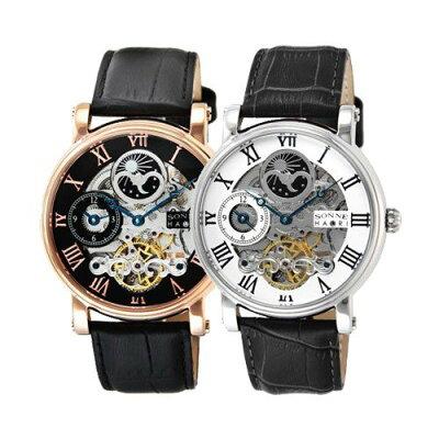 【国内正規品】[SONNE] SONNNE×HAORI ゾンネ×ハオリ 腕時計 メンズ H013PG H013SV ピンクゴールド シルバー レザー