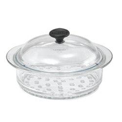 耐熱ガラス鍋 シャスール(CHASSEUR) ガラススチーマー 20cm CH20