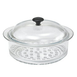 耐熱ガラス鍋 シャスール(CHASSEUR) ガラススチーマー 24cm CH24
