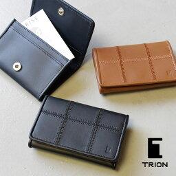 トライオン 名刺入れ カードケース TRION(トライオン)パネルレザー ビジネスシリーズ bp804【本革】【グラブレザー】