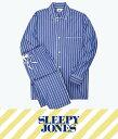 スリーピージョーンズ パジャマ メンズ SLEEPY JONES / スリーピージョーンズ : lowell pajama set - Tie Stripe : スリーピージョーンズ パジャマ パンツ ルームウェア ストライプ メンズ : SS18-MS002-F1031-403【DEA】