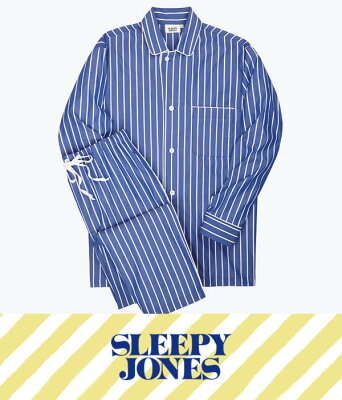 SLEEPY JONES / スリーピージョーンズ : lowell pajama set - Tie Stripe : スリーピージョーンズ パジャマ パンツ ルームウェア ストライプ メンズ : SS18-MS002-F1031-403【DEA】