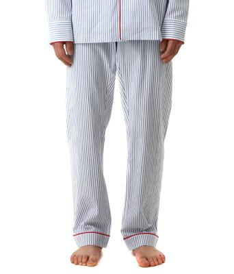 【サイバーマンデー対象商品送料無料!】SLEEPY JONES / スリーピージョーンズ : marcel pajama pant - seersucker stripe : スリーピージョーンズ パジャマ パンツ ルームウェア ストライプ メンズ : SS18-MP003-F1038-117【DEA】