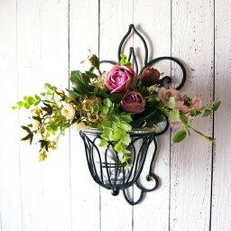 ポット アイアン 壁掛け 壁飾り 花瓶 花びん 花ビン 花器ガラスベースガラスカップ アートフラワーアイアンウォールデコ フラワースタンド鉄 フラワーポット キャンドルホルダー壁掛けフラワーベース