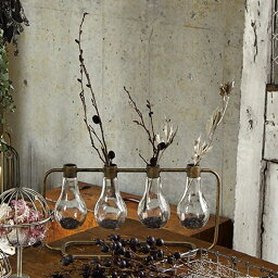 ポット アイアン 花瓶 花びん 花ビン 花器 ガラス花器ガラスベース ガラスカップ アートフラワーフラワースタンド レトロモダン 鉄 フラワーポット一輪挿し ディスプレイアイアン フラワーベース 4バルブ