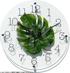 モンステラクロック 壁掛け時計 掛け時計 ウォールクロック TICKAWAY アートリーフクロック モンステラ 電波時計ではありません おしゃれ シンプル 北欧 木製 かわいい 造花 デザイナーズ アンティーク モダン インテリア 高級 贈答品 新築祝い